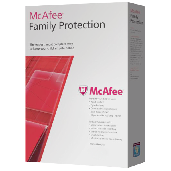 McAfee Family Protection Kids Internet Suite 3 Años