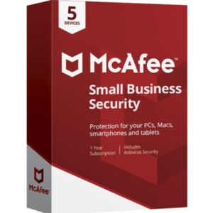 McAfee Small Business Security Por 3 Años Para 5 Pc MFR # IMSE521ITL10