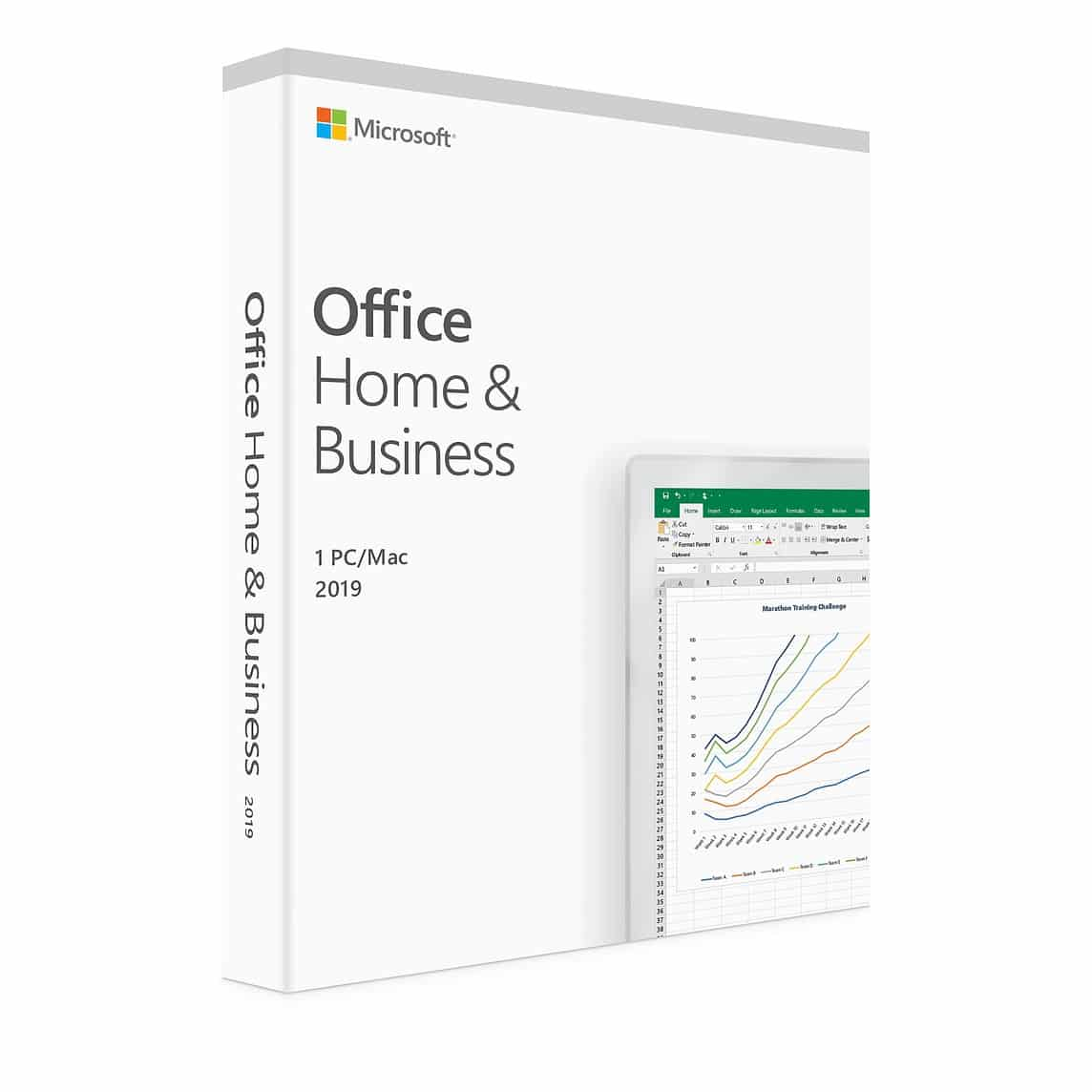"Microsoft Office 2019 Hogar y Empresa 1PC Retail Para ""WINDOWS"""