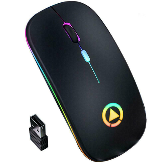 Mouse RGB recargable 9
