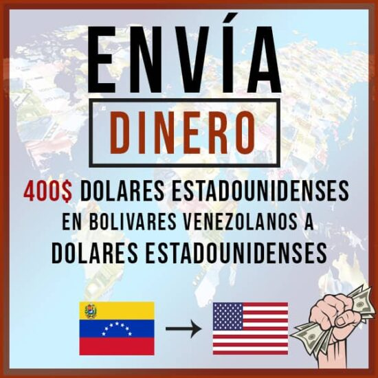 400 USD Dólar en Bolívares Venezolanos a Dólar USD