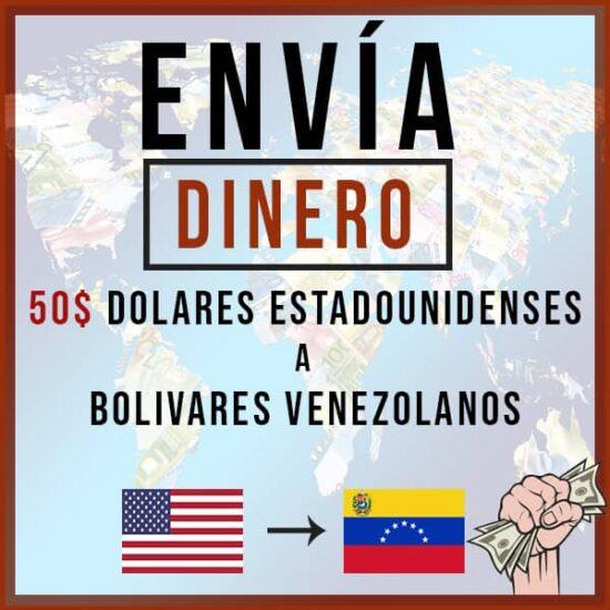 50 USD a Bolivares VES