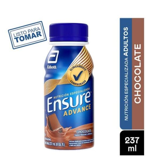 ENSURE ADVANCE Chocolate 237 Ml Portada