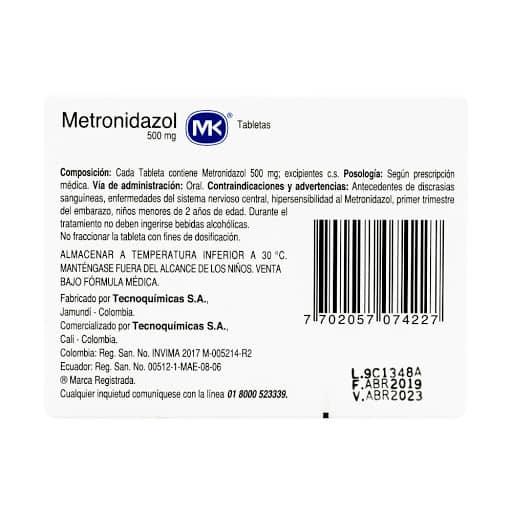 Metronidazol 3