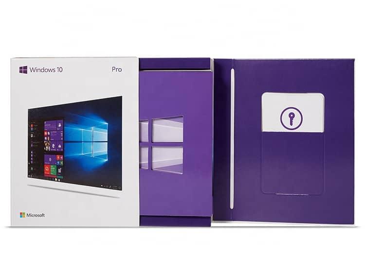 Microsoft Windows 10 Professional Pro 64bit Retail Box USB Flash Drive 5