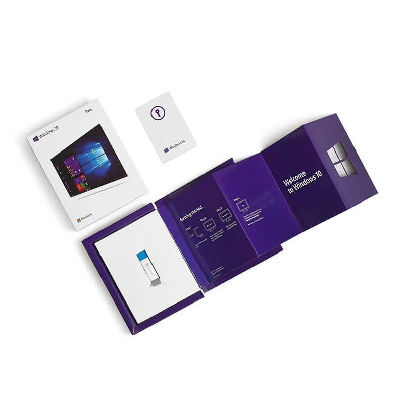 Microsoft Windows 10 Professional Pro 64bit Retail Box USB Flash Drive 7