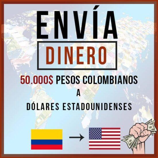 50000 Pesos Colombianos COP a Dólares Estadounidenses USD
