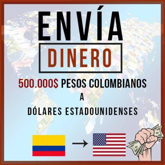 500000 Pesos Colombianos COP a Dólares Estadounidenses USD