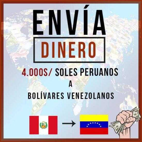 4000 Soles Peruanos a Bolivares Venezolanos