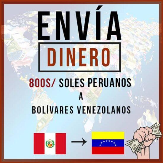 800 Soles Peruanos a Bolivares Venezolanos